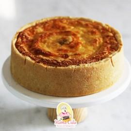 Torta de palmito com creme de queijo 1kg